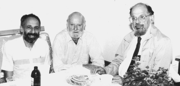 Miguel Grinberg Lawrence Ferlinghetti Allen Ginsberg Colorado 1990 b